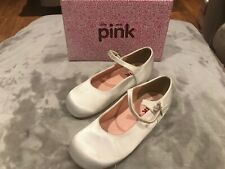 LITTLE MISS PINK BY PARADOX FAIRY IVORY SATIN SHOES (SIZE UK10 KIDS)