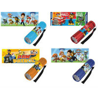 Original licensed Paw Patrol LED Torch in Choice of Red Blue Orange or Sky Blue