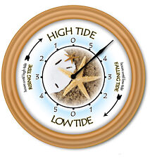 Tide Clock Beach Shell - Times Of Tides -  Ocean Starfish Seashell Surfing GIFT