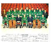 1969 1970 Seattle Totems 8X10 Team Photo Washington Usa Hockey Usa