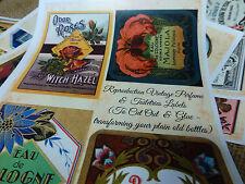 41 reproduction vintage perfume bottle & toiletries labels, DIY decor, craft