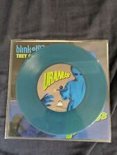 """blink 182 They Came To Conquer Uranus 7"""" Vinyl Record Blue Green variant"""