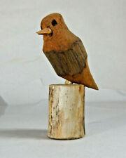 RARE Vintage Ben Ortega Miniature Wood Bird Carving, Sculpture New Mexico Artist