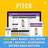 PITCH VIOLET eBay Template 2019 Responsive Ebayvorlage Auktionsvorlage SSL/HTTPS