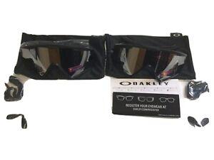 Oakley Wind Jacket 2.0 sun glasses in black.