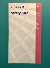 UNITED AIRLINES SAFETY CARD--757-300 REV#2