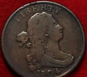 1804 Philadelphia Mint Copper Draped Bust Half Cent
