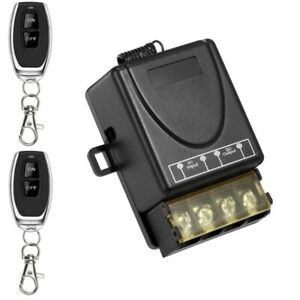 2x Funk Ein-/Ausschalter Fernbedienung 12V 24V 36V 48V DC Lichtschalter Sender