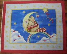 NITEY NIGHT fabric teddy bear baby fabric quilt top CP34527 SWEET DREAMS PANEL