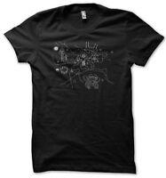 Twin Peaks Owl Cave Calendar Map Men's Black T-Shirt S-XXL