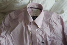 Abercrombie & Fitch Men's Small Pink Button Down Shirt