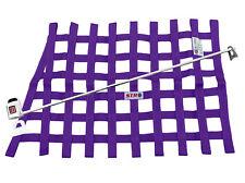STR Race Window Net SFI 27.1 Install Kit Autograss Mini Stox Banger - Purple