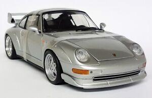UT Models 1/18 Scale - 180 05000 Porsche 911 993 GT2 Silver 97 Diecast Model Car
