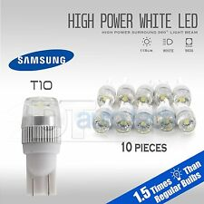 10X High Power 6000K White T10 921 Interior/License Plate Smd Led Light Bulbs (Fits: Dodge Stealth)