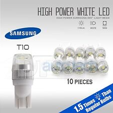 10X High Power 6000K White T10 921 Interior/License Plate SMD LED Light Bulbs