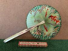 Vintage Unicorn Brand Keep Cool And Be Gay Decorative Hangbag Foldaway Fan