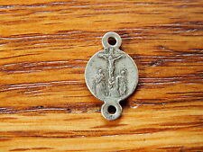 ANTIQUE RARE RELIGIOUS MEDAL MOTHER MARY & MARY MAGDALEN WEEPING DEATH OF JESUS