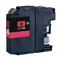 1 Compatible LC123 M ink for Brother DCP-J4110DW DCP-J552DW DCP-J752DW Printer