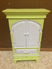 Barbie Doll My Dream House Armoire Desk Cabinet Glam Office Closet Furniture