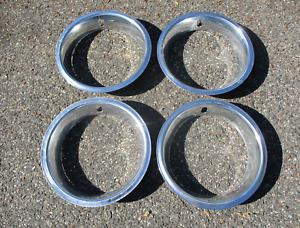 1967 to 1972 Pontiac Grand Prix 14 inch beauty rings trim rings OEM scratched