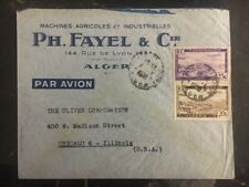 1950s Algeria Commercial cover Agricultural Machinery To Chicago IL Usa B