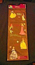 EK Success-Disney Princess Phrases-21 Stickers-Brand New-Cinderella,Belle, etc.