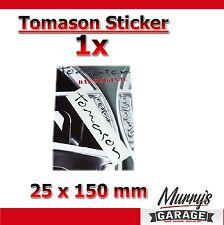 1x TOMASON Alufelgen SCHWARZ - 25x150mm - Aufkleber, Sticker, Decal, Étiquette