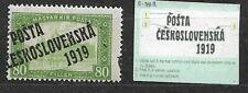 Czechoslovakia, Posta 1919 Mi. 132, overprint type II.