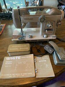 White Model 764 Heavy Metal Zig Zag Sewing Machine Serial 51973