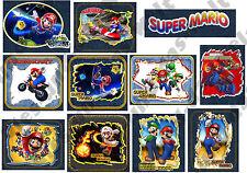 ★ TOP★ Super Mario Applikationen FLICKEN Aufnäher od. Bügelflicken 11 Stck NEU ★