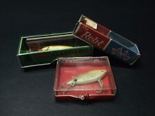Vintage Fishing Lures, & Boxes, ( Rapala, Cordell, Reb-L ) 3 Lures, 3 Boxes