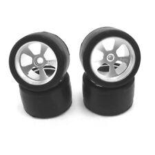 Hot Racing MCT55708 1/36 Losi Micro-T Rubber Slick Wheels on Aluminum Wheels