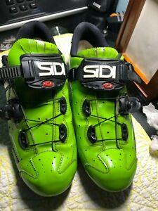 Sidi cycling bike biking road shoes 43 green