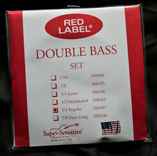 Super-Sensitive Red Label Upright Bass Strings 3/4 SS8107