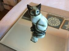 "Siamese Cat Porcelain 4.25"" T Figurine"