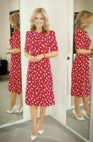 New L.K.Bennett Monata Red Sail print Dress Sz UK 14