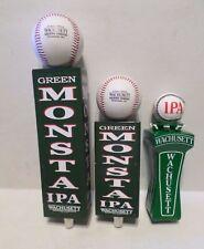 Rare Set of 3 Boston Red Sox Baseball Green Monsta Beer Keg Tap Handle Sign