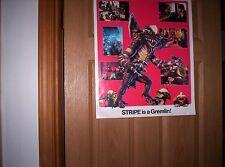 Vintage 1984 warner bros coca cola gremlins 2 sided poster 17.5x22