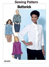 Butterick B6517 PATTERN Misses Top Sizes 6-22 New