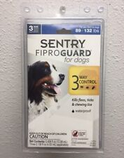 SENTRY FiproGuard for Dogs, Flea & Tick Prevention for Dogs 89-132 LBS - 3 Doses