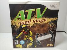 ATV Quad Kings Zoo with Racing Wheel Nintendo Wii Game - NEW IN BOX!