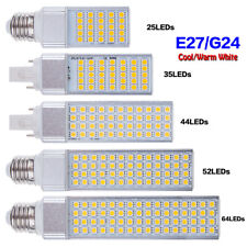 E27 G24 LED Luces de techo lámpara de maíz Bombillas 5050SMD Enchufe Horizontal 85-265V 5-13W