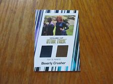 2017 Women of Star Trek 50th Anniversary Beverly Crusher Dual Costume Relic RC2