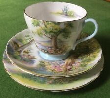 Shelley China Woodland Pattern 13348 Trio, cup, saucer plate Vintage England