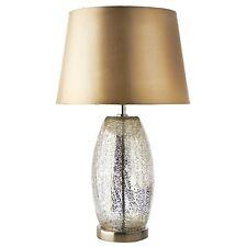 Modern Champagne Crackle Glass Table Lamp - Modern for Lounge Bedside Desk