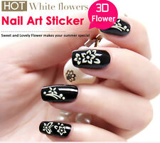 NEW 3D DESIGNED DECORATION WATER TRANSFER STICKERS RETRO FLOWER NAIL ART STICKER