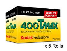 5 Rolls Kodak TMY 135-36 Tmax 400 Pro Black & White Negative (Print) Film FRESH