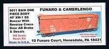 LMH Funaro F&C 6011 BOSTON MAINE 40' XM-1 Wood B&M BM Boxcar Creco AB Brake  -PC