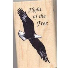 Rubber Stamp Inkadinkado Eagle Flight of the Free Patriotic I-8634