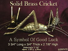 """SOLID BRASS CRICKET is the SYMBOL OF A FIGHTING SPIRIT & GOOD LUCK 3 3/4"""" long"""